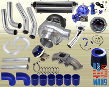 94-02 Accord/Acura Cl T3/T4 Turbocharger Turbo Kit Blue+Manifold+Bov+Wg+Gauge