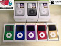 NEW Apple iPod Classic 6th 7th Gen Blue Purple Gold Red (80GB/120GB/160GB/256GB)