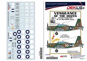 1/72 Decals Vultee 'Vengeance of the Dozen' - 12 Squadron DEKL's II