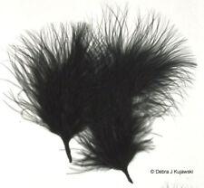 Quality Marabou Feathers JET BLACK  Fluffy 3-8