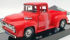 Motor Max 1/24 Scale Model Car #73200AC - 1955 Ford F-100 Pick Up - Red