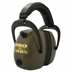 Pro Ears Gold II 30 Range Earmuff - NRR 30 - Hearing Protector Ear Muffs, Green