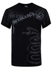 Metallica T Shirt Black Album Faded Official Licensed Black Mens Metal Rock NEW