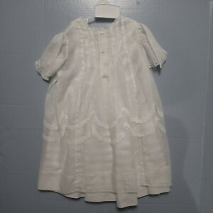 Circa. 1900 Cotton Christening Gown Excellent Condition except for small stain