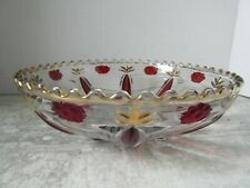 "Antique EAPG Madeira Tarentum Glass co Ruby Flash Stain 9"" dia Bowl"