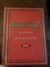 Journal des voyages et des aventures de terre et de mer 1893 illustré percaline