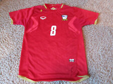 Official Thailand National Team Football Kit Jersey Red Soccer #8 T. Rashid L