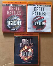 Rewinder, Destroyer & Survivor by Brett Battles- MP3 Audiobooks