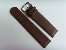 Watch Strap Leather Brown 20 mm slide Strap Fastening Screws Skagen Bering Brown