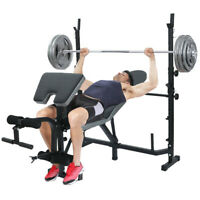 Black Strength Weight Bench Press with Butterfly and Preacher Curl - Home Gym