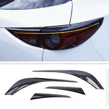 4Pcs Carbon Fiber Rear Tail Light Lamp Trim Cover For Mazda CX-5 CX5 2017 2018