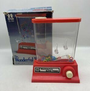 Vintage Tomy 7013 Wonderful Waterfuls Ring Toss Game 1976 Original Box HTF  READ