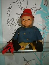 Uomo sabbia BAMBOLA DOLL Sandy Steiff 7760/29 ID 's bandiera BOTTONE MADE IN GERMANY