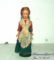 ANTIQUE VINTAGE 1930's MADE IN ITALY CELLULOID HOUSEWIFE ORIGINAL GIRL DOLL