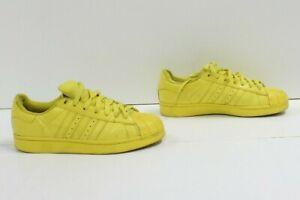 Adidas Jaune Basses Cuir D'Occassion Royaume-Uni 6.5 US 7 (Cod.SS2337) Unisexe