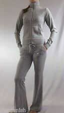 Juicy Couture Velour Set Tracksuit Grey Jacket Pants Size XS/P