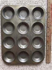 Vintage metal Baking Tray Jam Tart Tin. 12 Compartments. Food Photography.