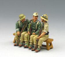 KING & COUNTRY WW2 German Afrika Korp #AK044 Vehicle Passengers Toy Soldiers