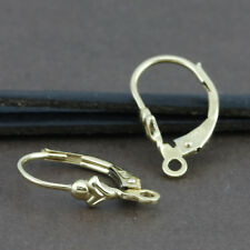 Genuine 18CT Solid YG Continental Clip -1 Pair