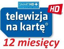 12m. TNK  NC+ SMART HD +  doladowanie Aufladung Prepaid TVN Telewizja Na Karte
