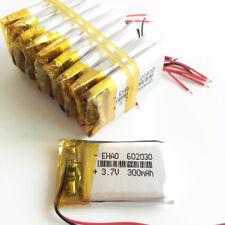 10pcs 3.7V 300mAh 602030 Li-po Polymer Rechargeable Battery For MP3 bluetooth