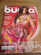 MAGAZINE BURDA SOUFFLE DE PASTELS CARNAVAL STYLE COUNTRY    N°85  2007