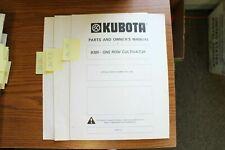 Kubota B300 One Row Cultivator Operators And Parts Manual