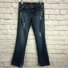Blue Cult Womens Jeans Size 27 Mid Rise Kate Flare Leg Medium Wash Distressed