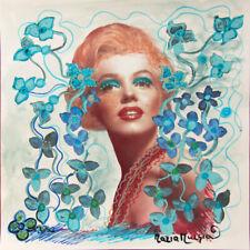 "MARIA MURGIA ""Marilyn Monroe"" CM 30X30 pezzo unico dipinto su cartoncino avorio"