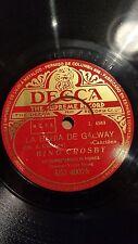 JAZZ 78 rpm RECORD Decca BING CROSBY Orquesta LA BAHIA DE GALWAY / BAILARINA