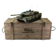 1:16 Torro Leopard 2A6 Rc Tank 2.4Ghz Airsoft Metal Edition Pro Nato