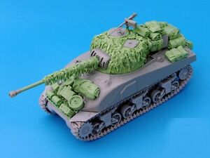 Resin 1/35 British Sherman Firefly Hessian Tape Camo Net Unpainted Unbuild QJ131