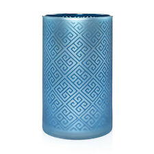Yankee Candle Greek Isle Glass Jar Candle Holder Blue -