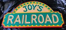 "RAILROAD Sign – ""Joy's Railroad"" Handmade Wooden Sign"