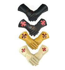 High quality Masonic Knight Templar KT Gauntlets Soft Leather Gloves