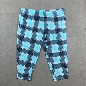 Secret Treasures Women's Sleepwear Pants 3X Plaid Pajamas Cotton Blend