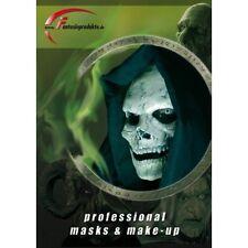 Application Prosthetic Face Mask for Skull 2 Part Fancy Dress COSplay LARP Adult