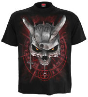 Spiral Direct NEVER TOO LOUD Mens Biker/Rock/Metal/Pentagram/T Shirt/Clothing