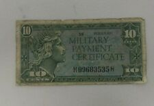 Series 611 10c MPC Miltary Pay Certificate 35 H09683535H