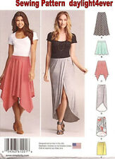 Women Pull-On Skirt in 3 Lengths Sewing Pattern Simplicity 1201 New Size 6-14 #v