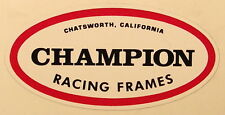 RARE Early Style Champion BMX / Flat Track Decal Schwerma Motorcycle BMX Racing