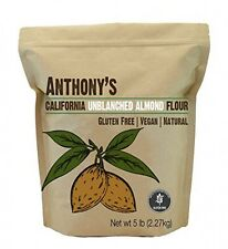 Almond Meal / Flour, Natural Unblanched by Anthony's, 5 Pounds (5lb), Batch