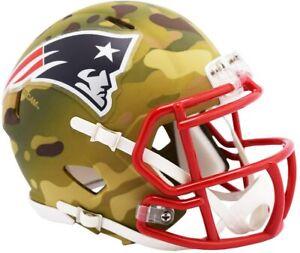 NFL New England Patriots Camoflauge Mini Helmet Speed Riddell Footballhelm