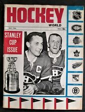 Vol 1 No 1 Issue of Hockey World Magazine 1966 - Beliveau Cover