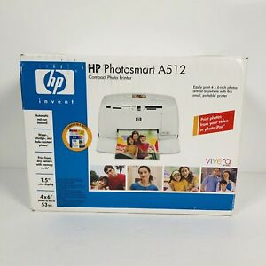 NEW HP Photosmart A512v Compact Photo Printer Sealed In Box Fast Shipping