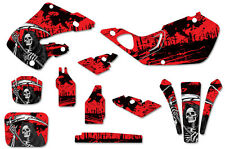 Honda CR125 98-99 CR250 97-99 Dirt Bike Graphic Kit Decal Sticker Wrap REAP RED