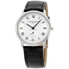 Frederique Constant Slimline Quartz Movement Silver Dial Men's Watch 235M4S6