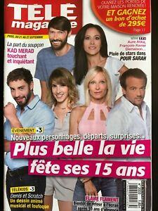 Télé Magazine 21/09/2019; Interview Plus belle la vie fête ses 15 ans/ Kad Merad