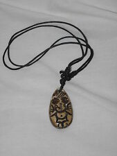 Nepal Bone Ganesh Ganesha Bone Pendant Necklace New