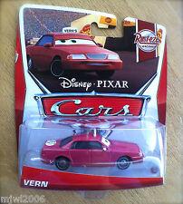 Disney PIXAR Cars VERN on 2013 RUST-EZE RACING THEME diecast 8/8 taxi cab cabbie